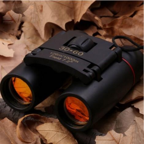 Travel 30 x 60 Binocular Telescope Zoom Folding Day Night Vision Hunting Pocket Compact Binoculars