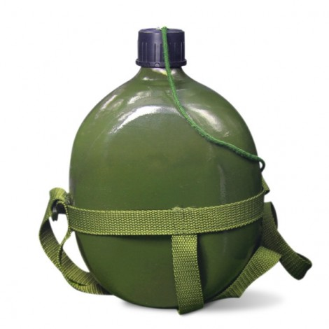 1.5L Cycling Water Bottle Outdoor Camping Hiking Kettle - Army Green