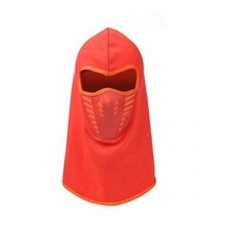 Unisex Winter Neck Face Mask Thermal Fleece CS Hat Ski Hood Helmet Cap Orange Yellow