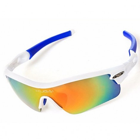 CoolChange Polarized Cycling Glasses Bike Outdoor Sports Bicycle Sunglasses Blue & White