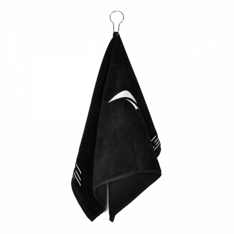 TOURLOGIC Outdoor Golf Playing Cotton Towel Black