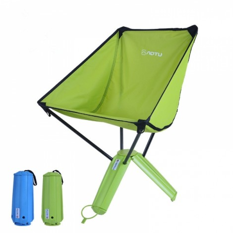 AOTU Portable Stable Foldable Nylon Chair Seat for Fishing Hiking Picnic Barbecue Green