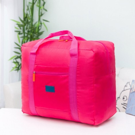 32L Outdoor Travel Foldable Luggage Bag Clothes Storage Organizer Carry-On Duffle Pack Rose Red