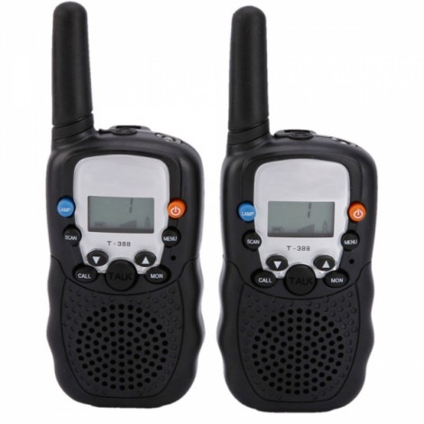 2 PCS BELLSOUTH T-388 Handheld 409MHz-410MHz 22-CH Walkie Talkie Interphone Black