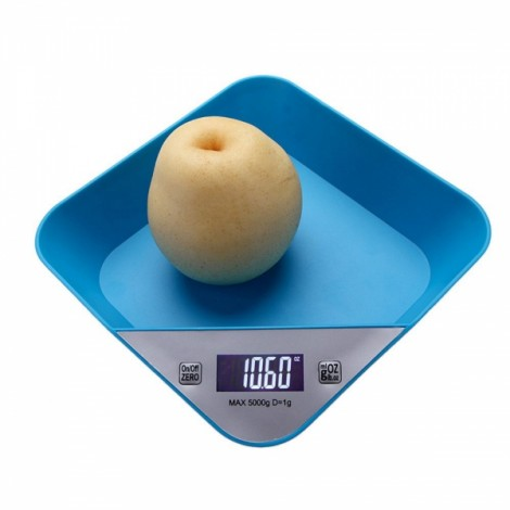 Multifunctional Precise Electronic Digital LCD White Backlight Kitchen Scale with Auto Off Function Blue