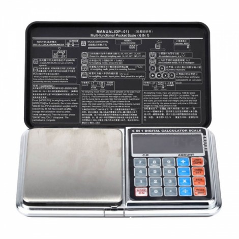 1kg/0.1g Multifunctional Mini Digital Pocket Scale Portable Calculator Weighing Tool Black