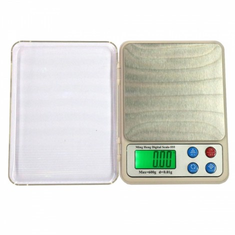 "MH-555 600g / 0.01g 2.2"" Display High Precision Electronic Scale Gold Jewelry Scale"