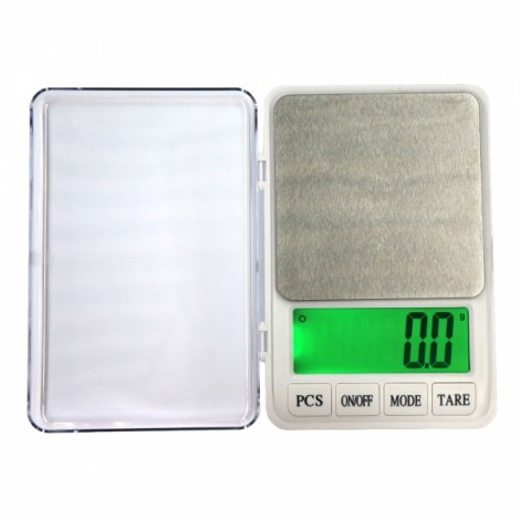 """MH-887 6kg/0.1g 4.5"""" LCD Digital Kitchen Scale Herb Scale Silver Gray"""