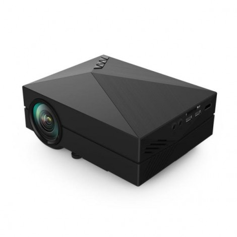 GM60 Mini Portable Home Theater Digital LED HD Projector with HDMI UK Plug Black