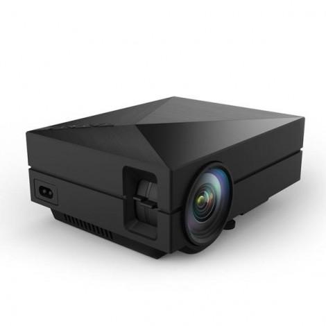 GM60 Mini Portable Home Theater Digital LED HD Projector with HDMI EU Plug Black