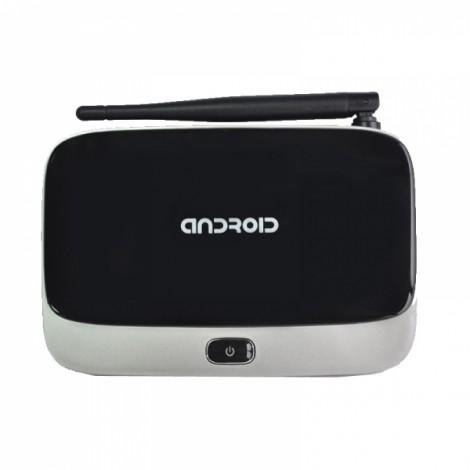 CS918 Q7 Android 4.4 OS RK3188 Quad Core Bluetooth WiFi HDMI Connectivity TV Box Player with AV USB TF Card Slot AU Plug Black