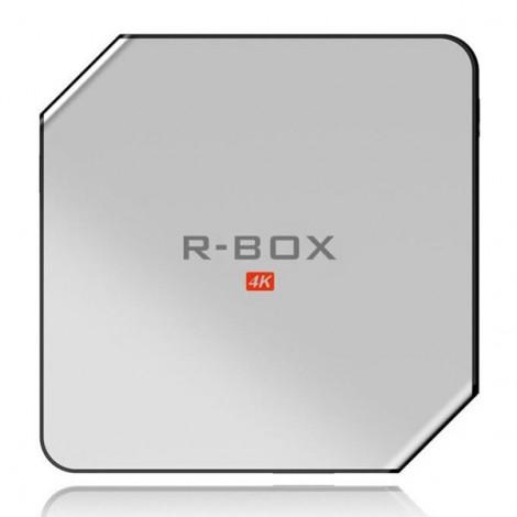 R-BOX 64-Bit Android 5.1.1 RK3229 Quad Core 2GB DDRR3 + 8GB eMMC 4K WiFi Bluetooth 4.0 Connectivity TV Box US Plug White