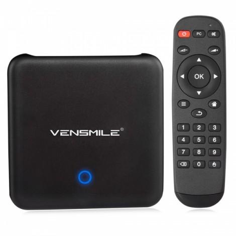 Vensmile U1 Remix OS 2.0 2GB+32GB Android 5.1.1 OS TV Box Player US Plug Black