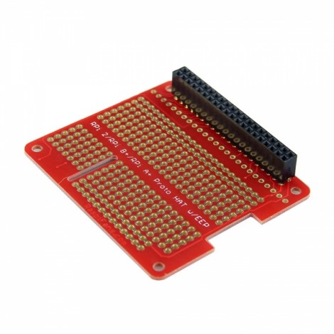 DIY Proto HAT Shield Develop Broad for Raspberry Pi 2 / B+ / A+ Red