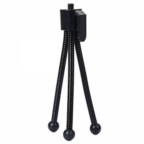 Stretchable Mini 4-inch Metal Tripod for Telescopes & Digital Cameras Black