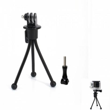 JUSTONE J021 Mini Metal Tripod Stand Holder for Camera/GoPro Hero 4/3 +/3/2/1/SJ4000 Black