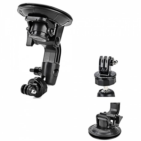 90mm Powerful Car Suction Cup Mount + Adapter for GoPro Hero 3 +/3/2/SJ4000 Black