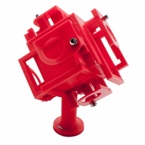 JUSTONE J093 3D Printing 360 Degrees Panoramic View Video Mount Holder for GoPro 3/3 + Red