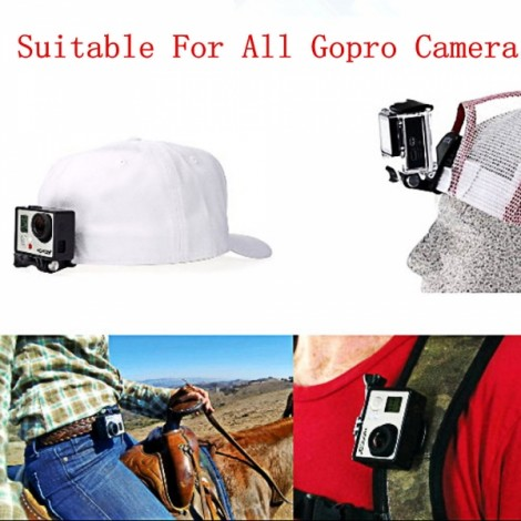 JUSTONE J027-1 Selfie Monopod Clip Mount Set for GoPro Hero 1/2/3/3 +/SJ4000 Transparent & Black