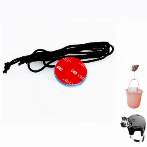JUSTONE J029 3M VHB Helmet Safety Tether for GoPro Blue & Red