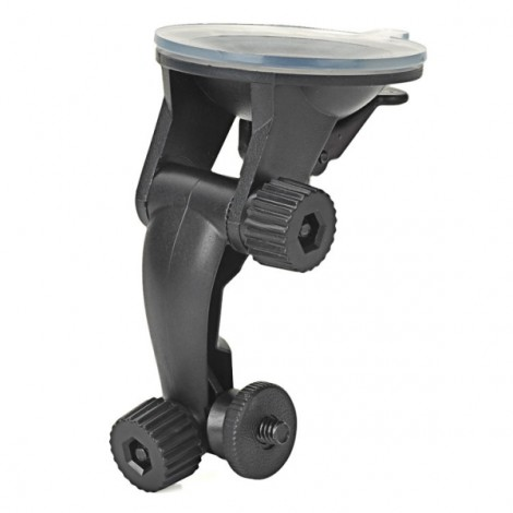 Universal Mini Vehicle Swivel Holder with Suction Cup for Camcorder Black