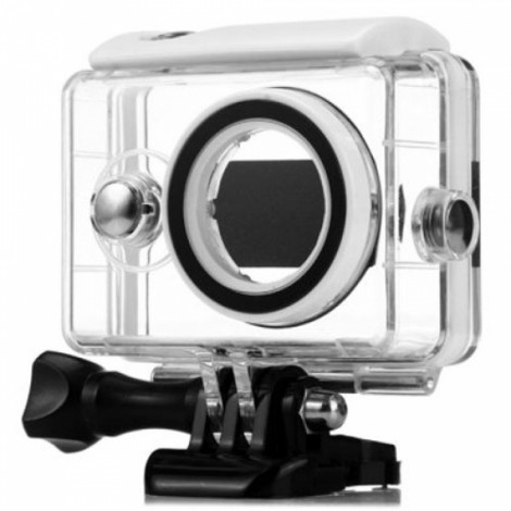 40m Wateproof Case for XiaoMi Yi Action Camera Transparent & White