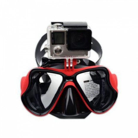 Practical Diving Swimming Goggles with Action Camera Mount for GoPro / Xiaomi Yi Red