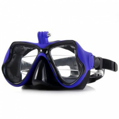 Practical Diving Swimming Goggles with Action Camera Mount for GoPro / Xiaomi Yi Blue