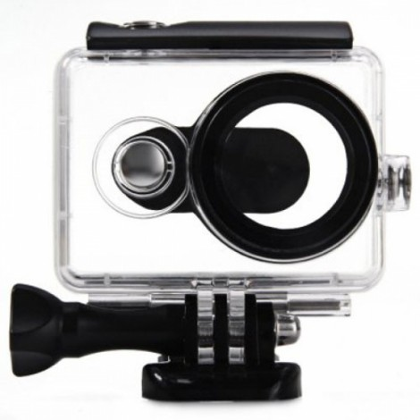 40m Waterproof Case for XiaoMi Yi Action Camera Transparent & Black