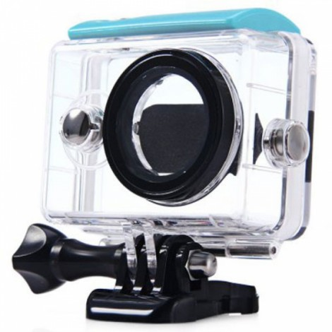 40m Wateproof Case for XiaoMi Yi Action Camera Transparent & Blue