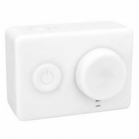 Housing Case Cover + Lens Cap Set for XiaoMi Yi Sports Camera White