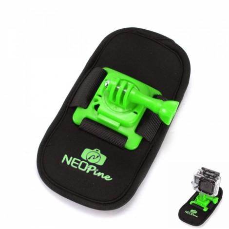 NEOpine NSC-1 Camera Bag Design 360 Degrees Fixed Mount for GoPro Hero 2 / 3 / 4 Green