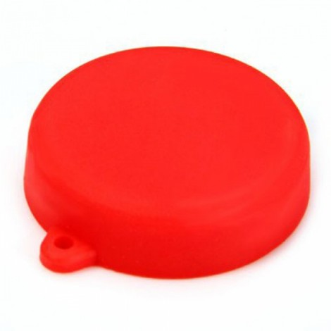 Silicone Lens Protective Cap for XiaoMi Yi Sports Camera Red