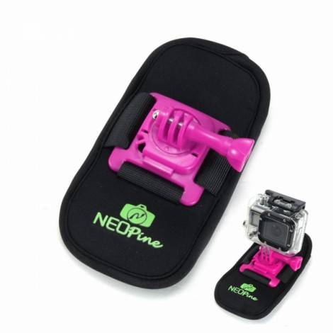 NEOpine NSC-1 Camera Bag Design 360 Degrees Fixed Mount for GoPro Hero 2 / 3 / 4 Pink