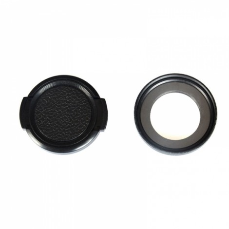 KingMa 37mm UV Filter Lens + Lens Cover Set Black