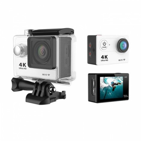 """H9 2"""" LCD Screen Ultra HD 4K WiFi 170-Degree Wide Angle Action Camera White"""