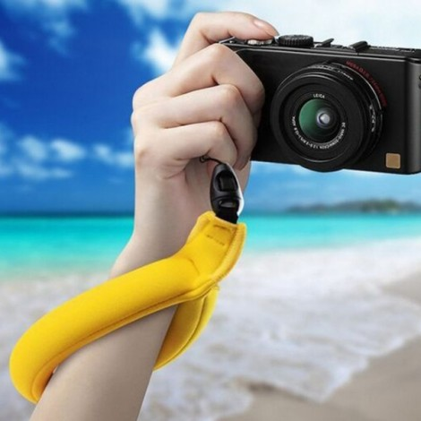 Action Camera Accessories Floating Wrist Strap for Xiaomi Yi Camera Yellow