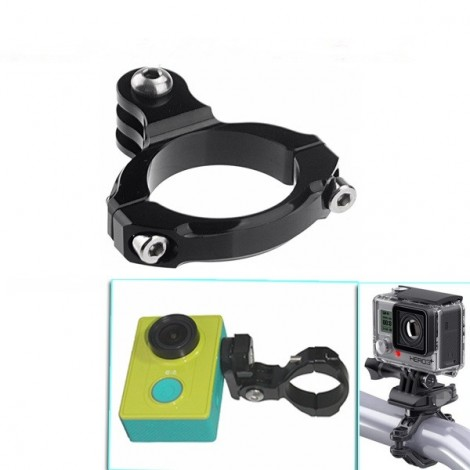 Aluminum 31.8mm Bike Handlebar Mount Clamp for Gopro SJcam XiaoMi Yi Camera Black