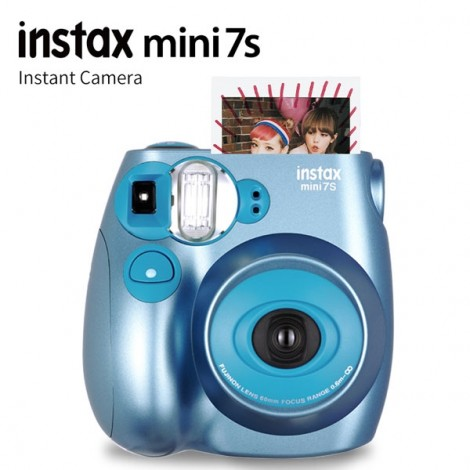 Fujifilm Instax MINI 7s White Instant Film Camera Blue