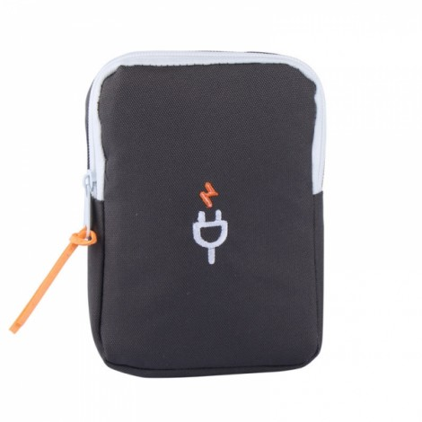 Multifunction Portable Travel Charger Storage Bag Digital Data Cable Storage Pouch Gray