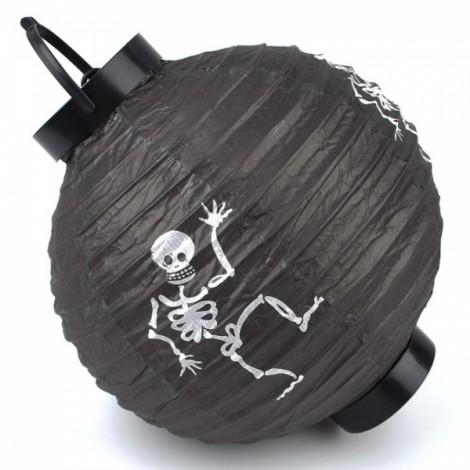 Halloween LED Paper Pumpkin Hanging Lantern Holiday Party Decoration Black