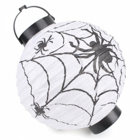 Halloween LED Paper Pumpkin Hanging Lantern Holiday Party Decoration White