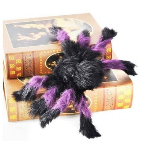 30cm Halloween Bar KTV Decoration Big Plush Funny Tricky Toy Spider Multicolor