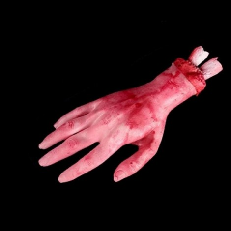 Halloween Horror Props Bloody Hand Haunted House Party Decoration Scary Faked Human Arm Finger Leg Foot
