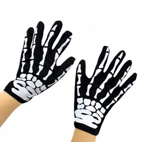 Unisex Full Finger Halloween Costume Cosplay Skeleton Skull Ghost Gloves