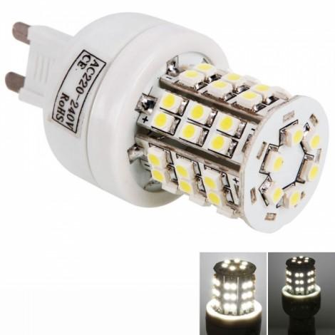 G9 4W 48 LED SMD3528 6000K White Corn Light Lamp (220V)