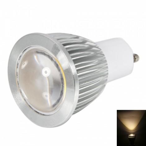 GU10 9W 450-500LM 2800-3200K Convex Warm White Light Dimmable COB LED Light Bulb (220V)