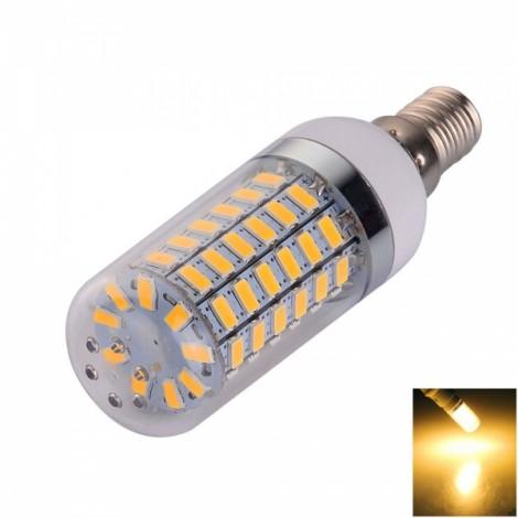 E14 12W 69 LED 5730SMD 1200LM 2800-3200K Warm White LED Corn Lamp (220-240V)