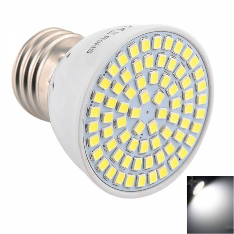 E27 7W 72x2835SMD LED 6000-6500K White High Brightness LED Light (AC 10-30V)