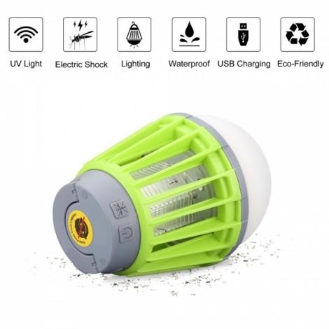 3-in-1 Outdoor Lantern & Mosquito Bug Killer & Power Bank for Camping Garden Green